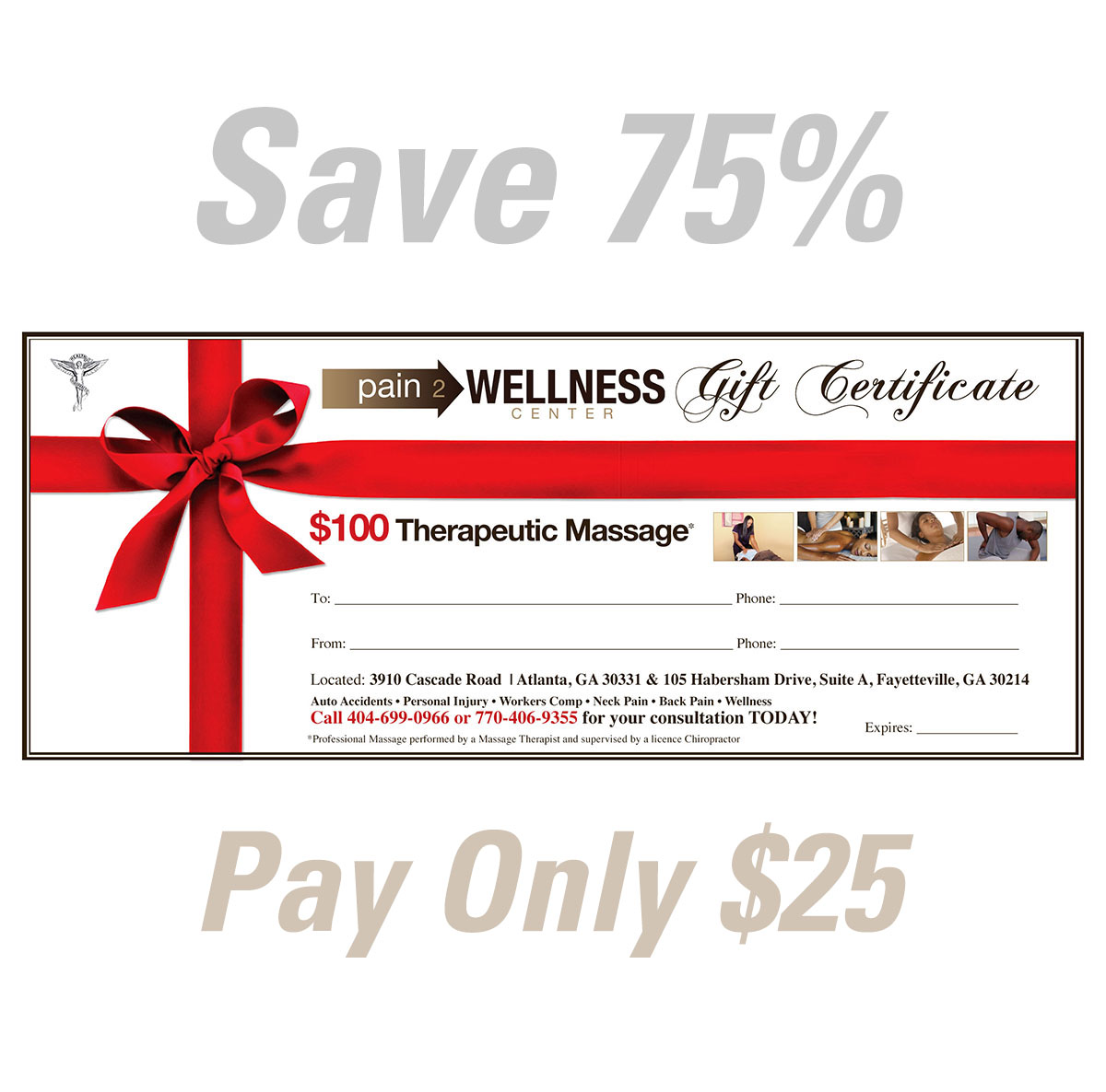 1 hour Massage Therapy ($100 Value)